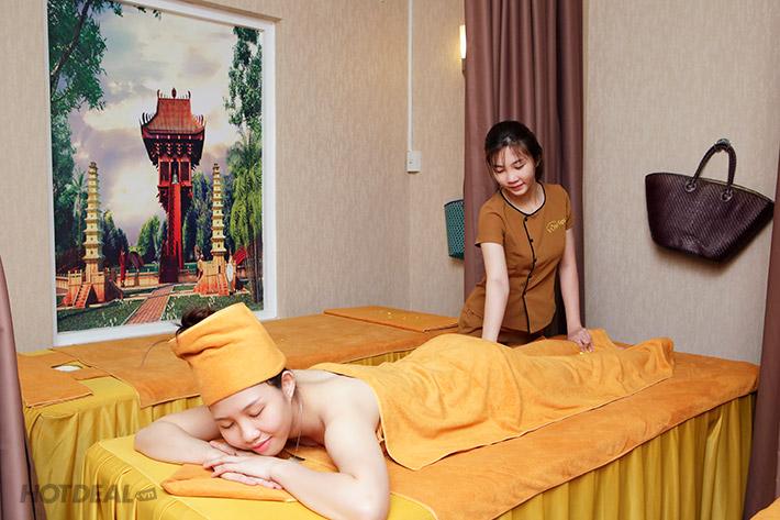 Vòm Spa – 90 Phút Massage Body Thư Giãn Aroma Kết Hợp Đá Nóng +...