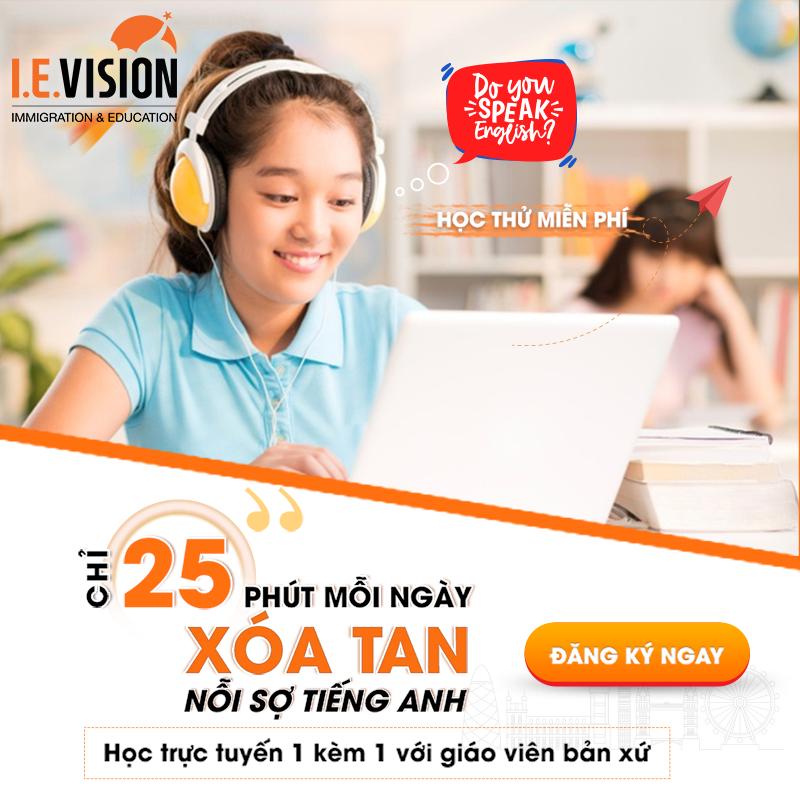 KHÓA HỌC TIẾNG ANH TRỰC TUYẾN I.E.VISION ( Free trial class/ Thời lượng 25ph)